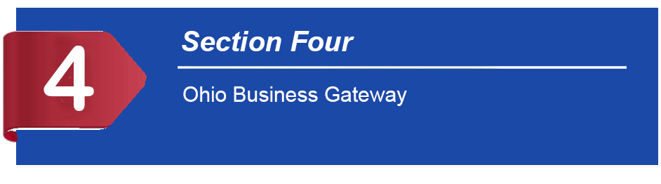 Ohio Business Gateway Help